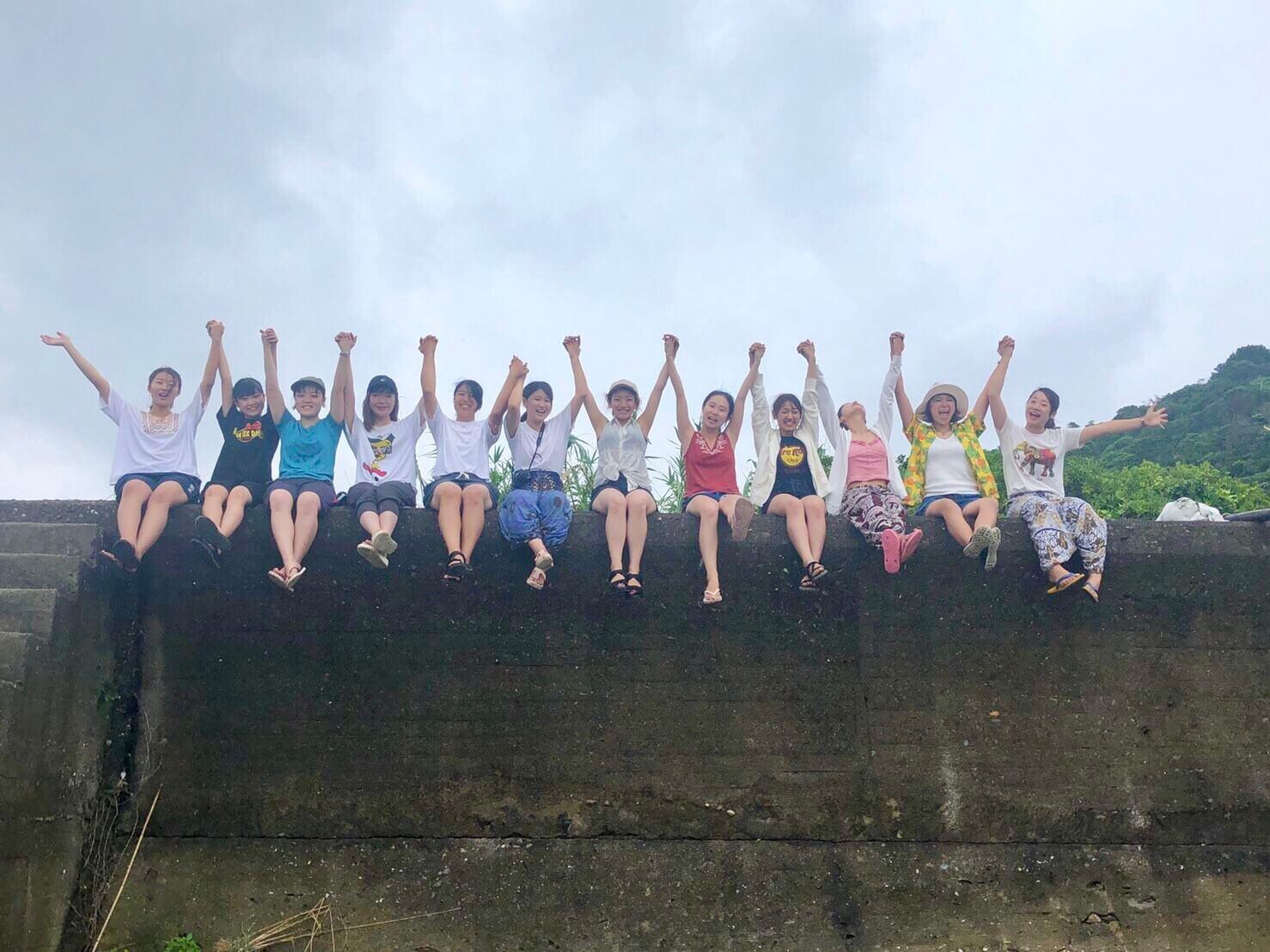 女子大生4人組による無人島キャンプイベント
