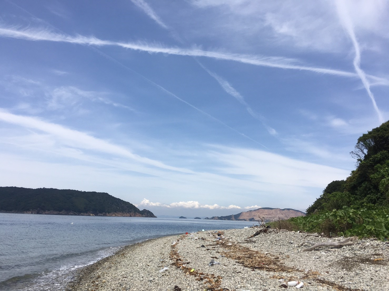 晴れたビーチ