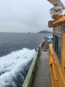 船から見える無人島